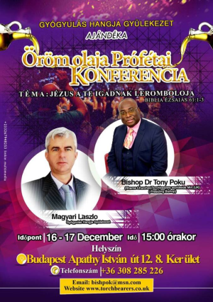 Dr. Tony Poku ismét ellátogat Magyarországra prófétai kijelentéssel!
